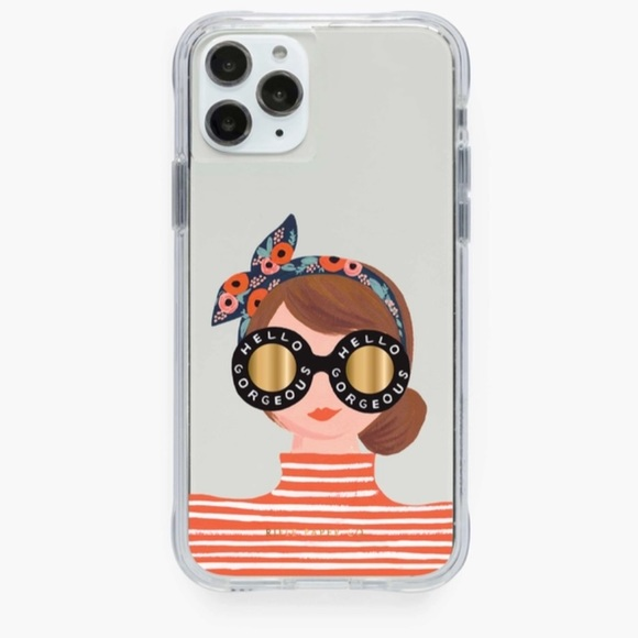 Hello Gorgeous Rifle paper co. iPhone case